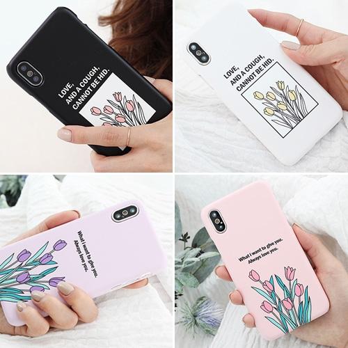 韓國 鬱金香 硬殼 手機殼│iPhone 6 6S 7 8 Plus X XS MAX XR 11 Pro LG G7 G8 V40 V50│z8509