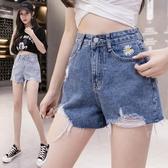 高腰顯瘦牛仔褲2020新款夏季薄款寬松短褲女ins超火小菊花A字褲潮 居享優品