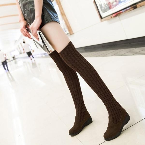 長靴 過膝靴高筒靴2021新款秋冬彈力靴女士兩穿瘦瘦靴時尚長款單靴子潮 交換禮物