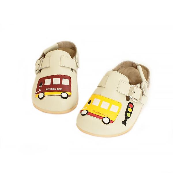 【Jingle】快樂上學前包後空軟木休閒鞋(百搭米大人款)