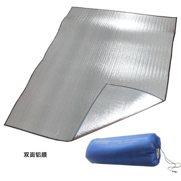 雙面鋁箔防潮墊 戶外野餐墊 雙人加厚野營帳篷墊 地墊 200cm*150cm