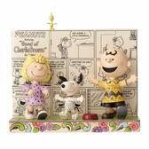《Enesco精品雕塑》SNOOPY經典漫畫系列快樂共舞塑像-Happy Dance(Peanuts by Jim Shore)_EN87775