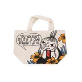 黃花款【日本正版】嚕嚕米 帆布 手提袋 便當袋 午餐袋 小不點 MOOMIN - 139407