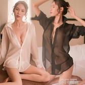 情趣內衣小胸性感透明白襯衫睡衣激情套裝騷挑逗調情開檔免脫透視 依凡卡時尚