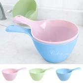 水瓢 舀水 水杓 沐浴 沐浴水舀 蔬果清洗 寶寶洗頭 浴勺 寬手柄水勺【M162】 慢思行