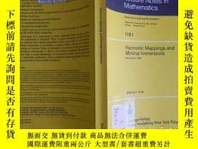 二手書博民逛書店Harmonic罕見Mappings and Minimal I