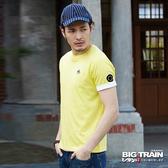 Big Train JPN家徽雲紋圓領T-男-黃-B8062733(領劵再折)