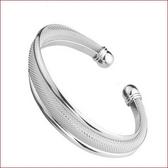 首飾飾品 雙線網手環鍍銀時尚手鐲s124