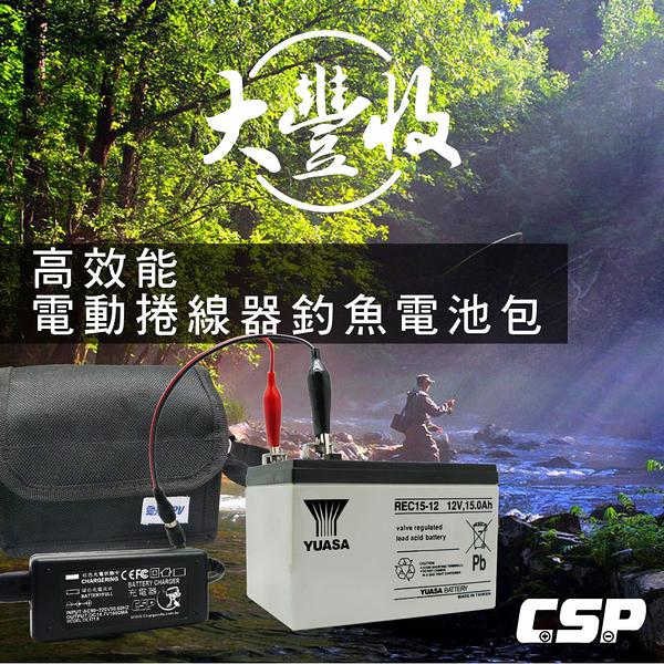 HI-POWER、DAIWA、MIYA 電動捲線器專用電池 + 配件組 + 專屬背肩包(REC15-12)