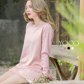 東京著衣【YOCO】多色法式輕甜雪紡拼接針織上衣-S.M.L(171660)
