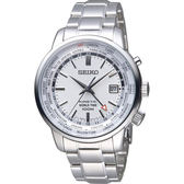 SEIKO 精工 KINETIC 人動電能時尚腕錶 5M85-0AF0S 白 SUN067P1