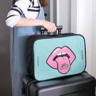 可愛韓版拉桿輕便行李收納袋 短途出門旅行...
