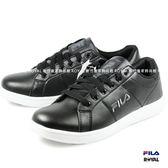 FILA 新竹皇家 流行復古鞋  輕量 黑色 皮革  休閒鞋 男女款 No.A9144-I7837
