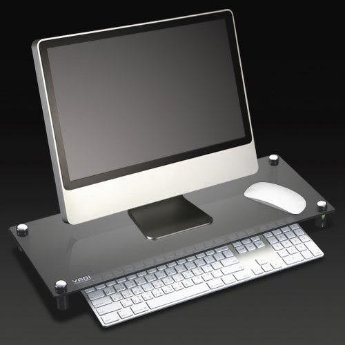 YADI LCD 液晶鍵盤收納架*玻璃黑色 螢幕支撐架 LCD托架 時尚精品.敗家必備