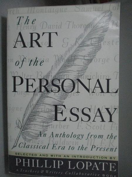 【書寶二手書T9/短篇_QED】The Art of the Personal Essay: An Anthology