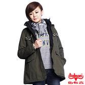 【BOBSON】女款珠飾軍風外套(綠41)