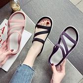 拖鞋 下雨天拖鞋女外穿2021夏季舒服沙灘鞋孕婦鞋軟底果凍鞋可濕水防滑 快速出貨