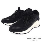 Tino Bellini 多層次率性拼接綁帶內增高休閒鞋 _ 黑 L0O0002