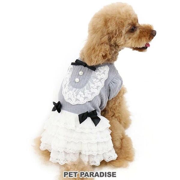 【PET PARADISE 寵物精品】Pretty Boutique 氣質蕾絲蓬蓬裙/灰 (DSS) 狗衣服 寵物衣服 秋季新品