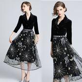 【歐風KEITH-WILL】(預購) 倫敦序曲復古優雅V領洋裝