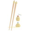 asdfkitty*日本san-x角落生物 炸蝦+炸魚 造型筷子-有止滑圈-日本正版商品