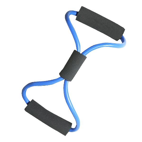 [7-11限今日299免運]8字拉力器 拉力繩 瑜珈伸展帶 擴胸繩 彈力繩 拉力帶✿mina百貨✿【TT0011】