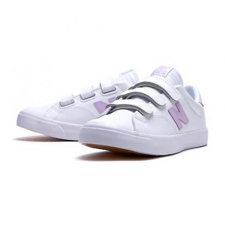 New Balance 女鞋 休閒 210 魔鬼氈 皮革 橡膠大底 紫 白【運動世界】AM210VMP