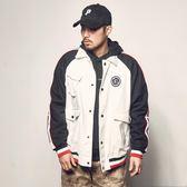 夾克 春季新款撞色拼接嘻哈外套日系復古潮牌上衣工裝翻領男士夾克