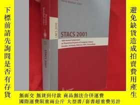 二手書博民逛書店Stacs罕見2001: 18th Annual Symposi