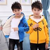 童裝秋冬款男童外套加厚中大童冬季加絨兒童上衣男孩衣服 巴黎時尚