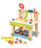 無毒玩具安全玩具德國EverEarth 環保系成長木玩豪華木匠工具檯免運iae 創百市集