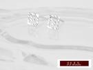 585K(14K)金 義大利進口 白K金 時尚造型 耳環