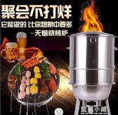 不銹鋼吊爐燒烤架商家用5人以上烤串爐戶外木炭燒烤爐電燜烤肉爐igo 藍嵐