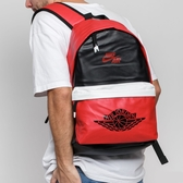 NIKE AIR JORDAN 皮革 紅 白 黑 一代配色 後背包 (布魯克林) 9A0390KR5