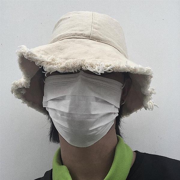New Boy古著定制 19ss韓國日系毛邊漁夫帽簡約休閒遮陽帽 男女款 中秋特惠