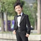 兒童禮服男童燕尾服兒童西裝套裝小孩婚禮鋼琴表演出服主持人花童-完美