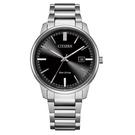 【台南 時代鐘錶 CITIZEN】星辰 光動能 PAIR 對錶 日期 光動能 鋼錶帶男錶 BM7521-85E 黑 39mm