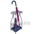 鐵藝酒店大堂辦公落地家用簡約創意整體放折疊雨傘架傘桶置物架子xw