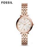 FOSSIL  Jacqueline 低調奢華玫瑰金不鏽鋼手錶 女