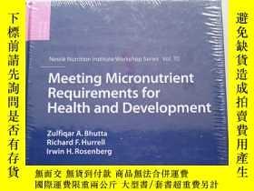 二手書博民逛書店Meeting罕見Micronutrient Requirements for Health and Develo