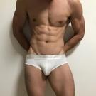 男內褲|FOLLOW U高衩 三角褲 緞面寬邊 超低腰 電臀 合身 運動 重訓 彈性 比基尼 基本純棉BS3521