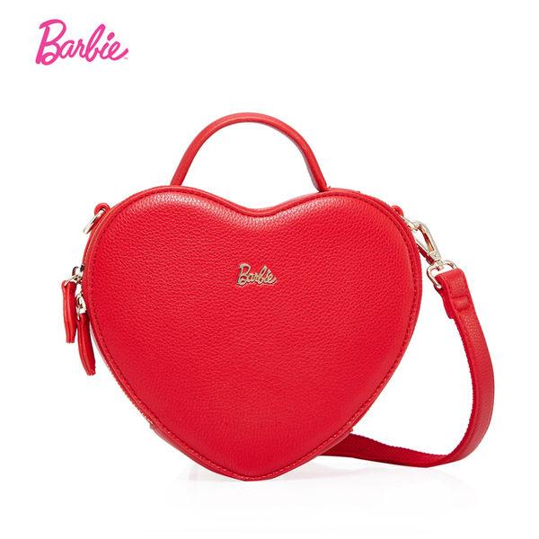 芭比公主系列 可愛甜美心形斜挎單肩手提包
