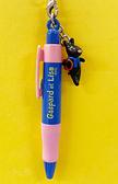 【震撼精品百貨】Gaspard et Lisa_麗莎和卡斯柏~吊飾附園子筆-粉藍#27650