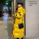 棉衣長外套亮面羽絨棉服女冬季新款韓版寬鬆加厚過膝中長款棉衣學生棉襖 雙11購物節