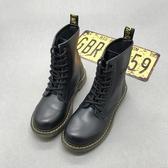 馬丁靴女英倫風新款靴子潮靴系帶短靴春夏平底靴騎士靴圓頭高幫靴新品推薦新年禮物