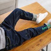 童褲男牛仔褲男童秋季童褲中童大童褲子正韓長褲5-13歲【跨年交換禮物降價】