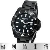 【台南 時代鐘錶 LiCORNE】力抗 LT099MBBI-B 堅毅性格運動風時尚男錶 黑鋼 40mm 公司貨開發票