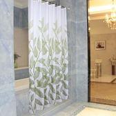 浪漫磁場新款綠葉加厚防水防潑水防霉浴簾衛生間門簾窗簾浴室掛簾隔斷簾
