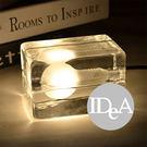 IDEA 冰塊造型桌燈 立體視覺小夜燈 LED G9 發光  桌面燈臥室房間