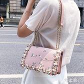 鏈條包小包包女2018新款夏天潮韓版百搭斜挎包鏈條單肩包時尚小方包 KB6639 【野之旅】